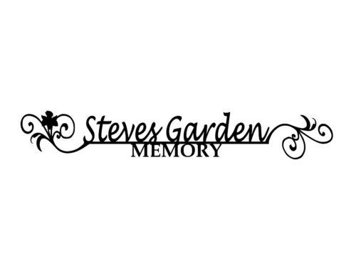 garden memorial sign